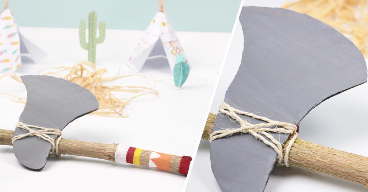 DIY for Kids: Indian Tomahawk Axe