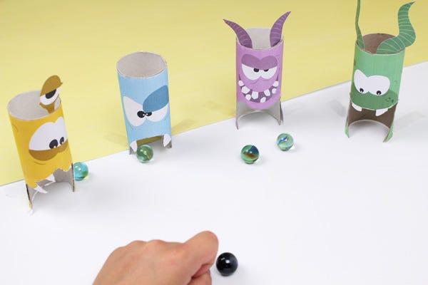 DIY Games for Kids: Monster Marbles