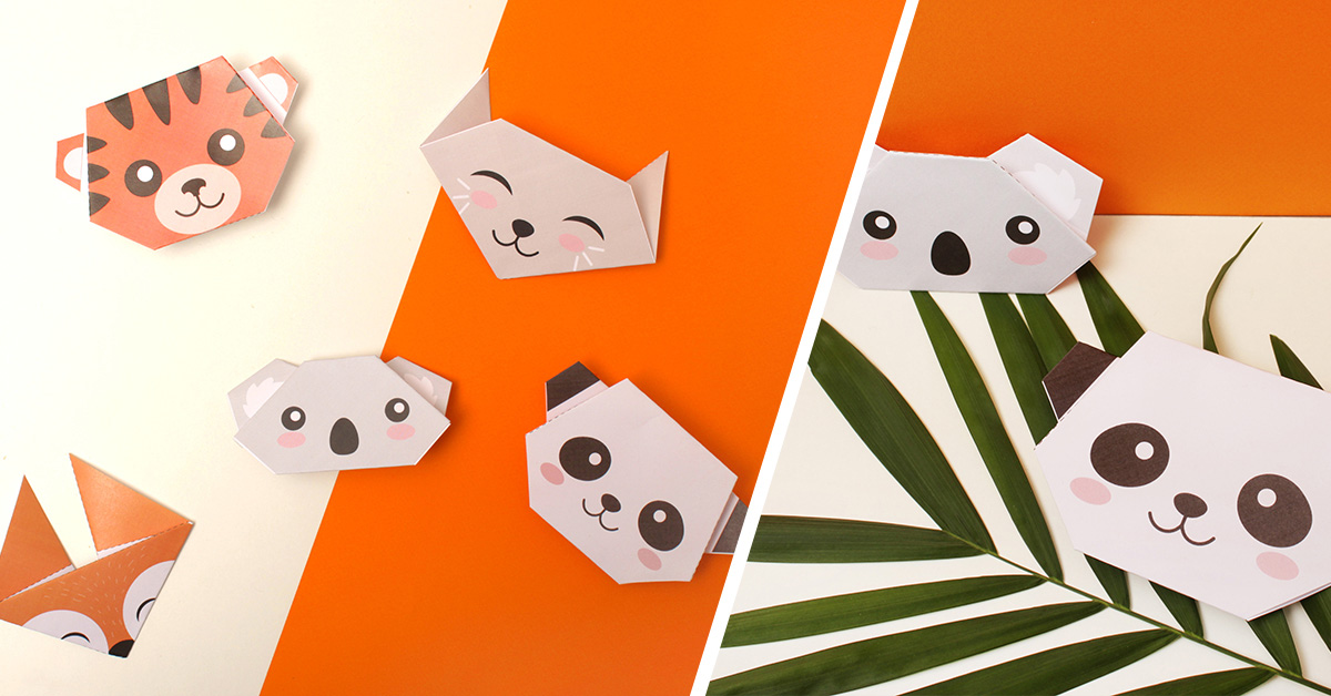 DIY Origami Animal Heads for Kids PetitFernand
