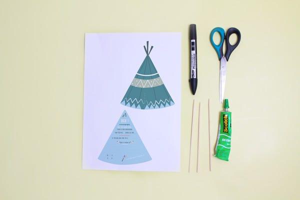 DIY Ideas for Kids - Free Tepee Birthday Invitations