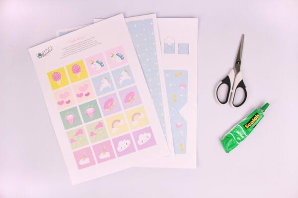 DIY for Kids: Unicorn Memory Cards Game