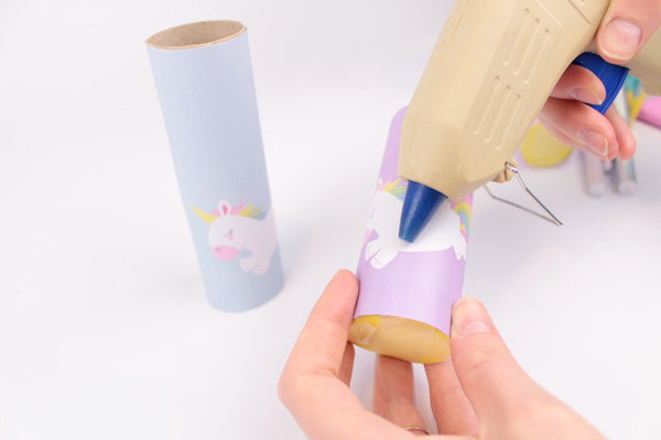 DIY superhero and unicorn pencil holders for kids