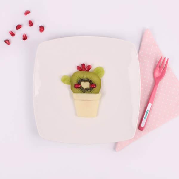 Healthy Fruit Cactus Snack Idea