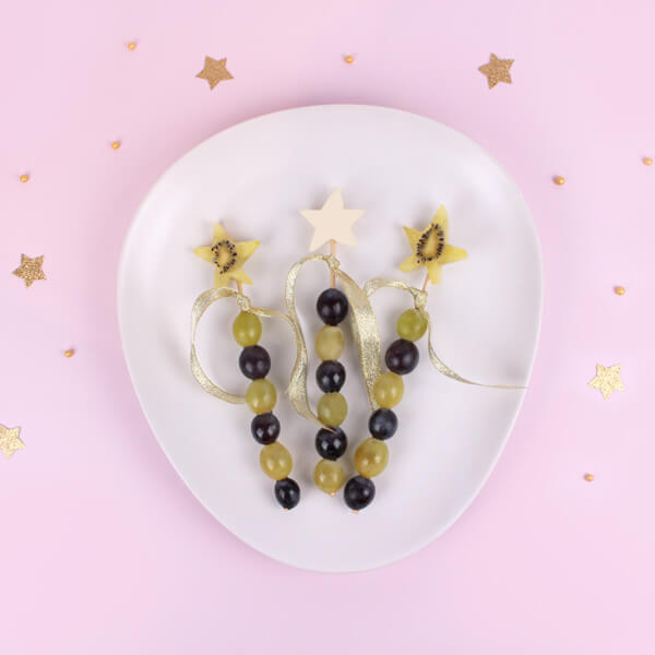 Magic wand food art made with fruits