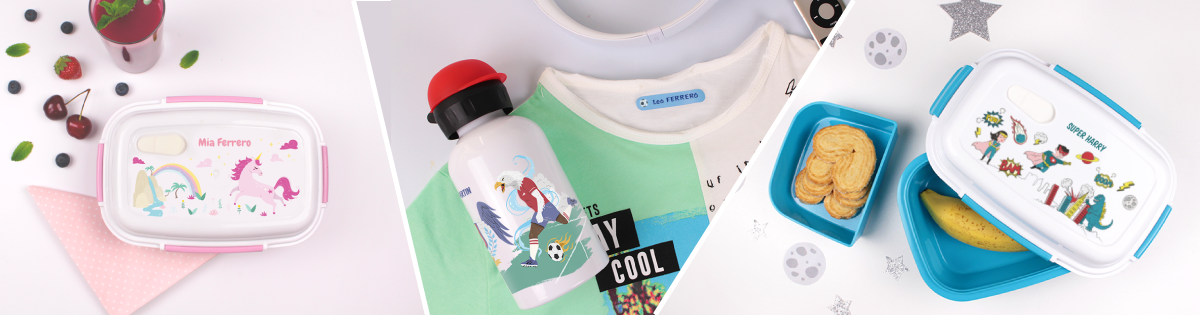 New themes for personalised lunchboxes and water bottles