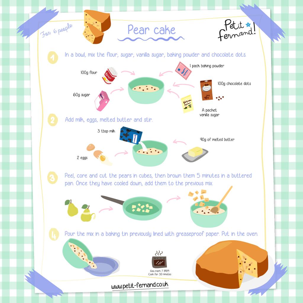 Pear Cake Recipe for Kids