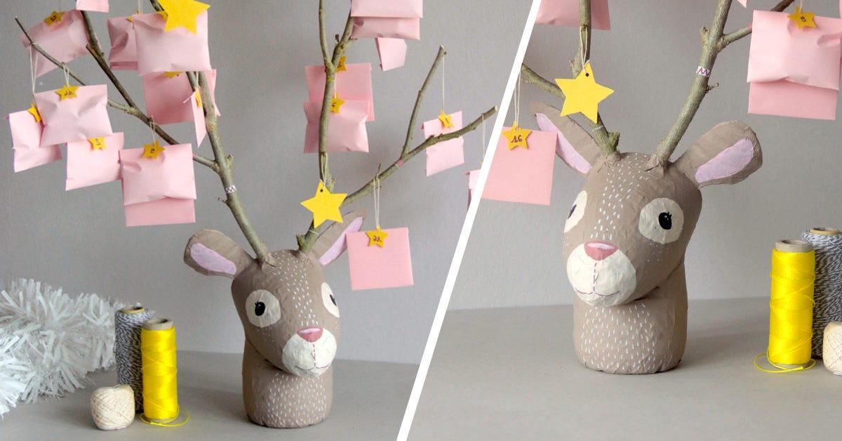 Reindeer Advent calendar DIY