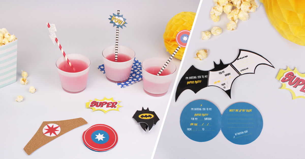 Superheroes Party Invitations DIY For Kids