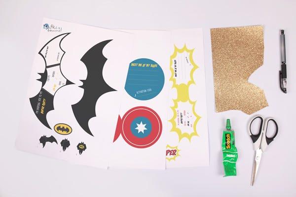 Superheroes' invitations