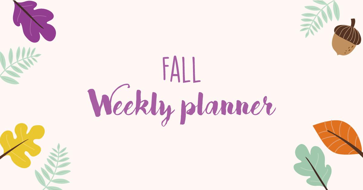 Autumn weekly planner