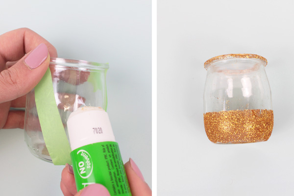 DIY Glitter Candles for Christmas Decorations