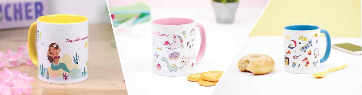 Kids and adults customisable mug gift