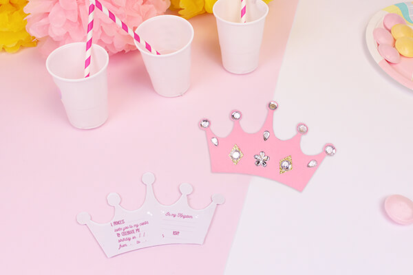 Diy Princess Crown Invitations Petit Fernand
