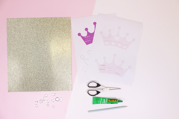 Princess invitation DIY