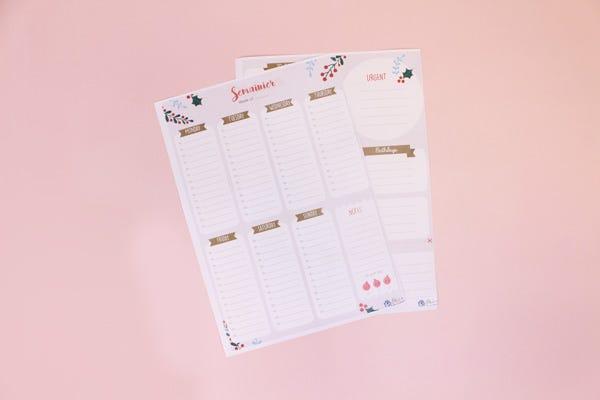 Winter Weekly Planner