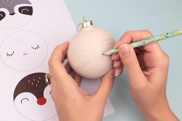 DIY animal Christmas ornaments