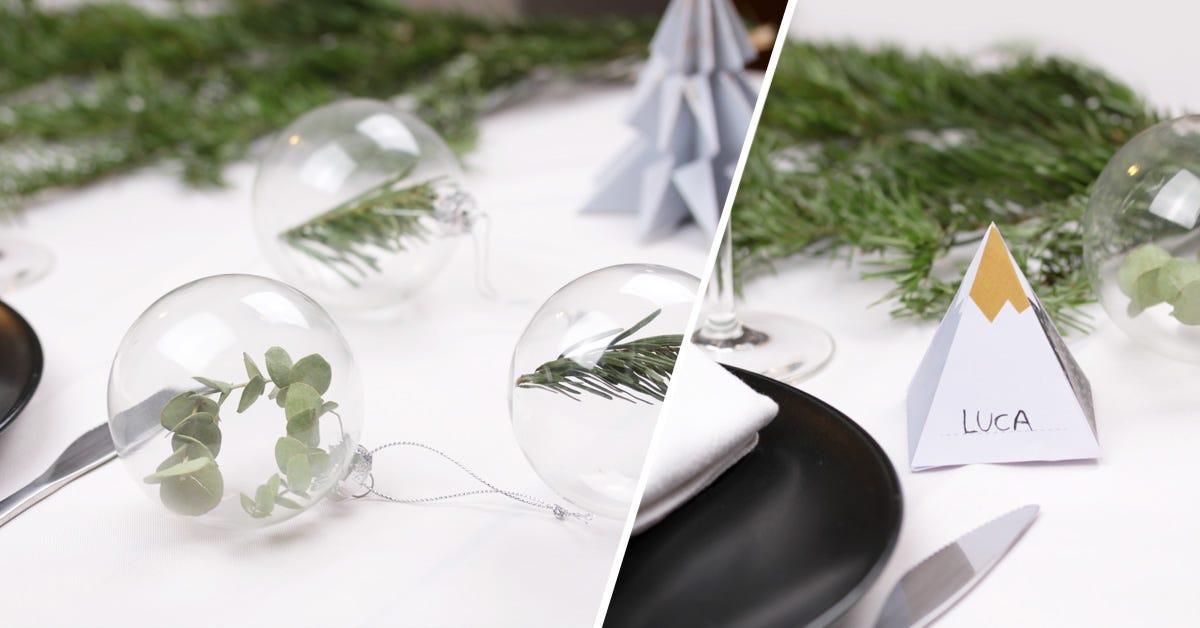 Diy Christmas Table Decorations Petit Fernand