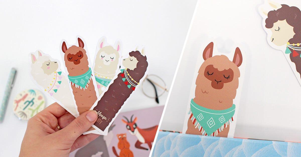 Cute Llama Bookmarks I Petit Fernand
