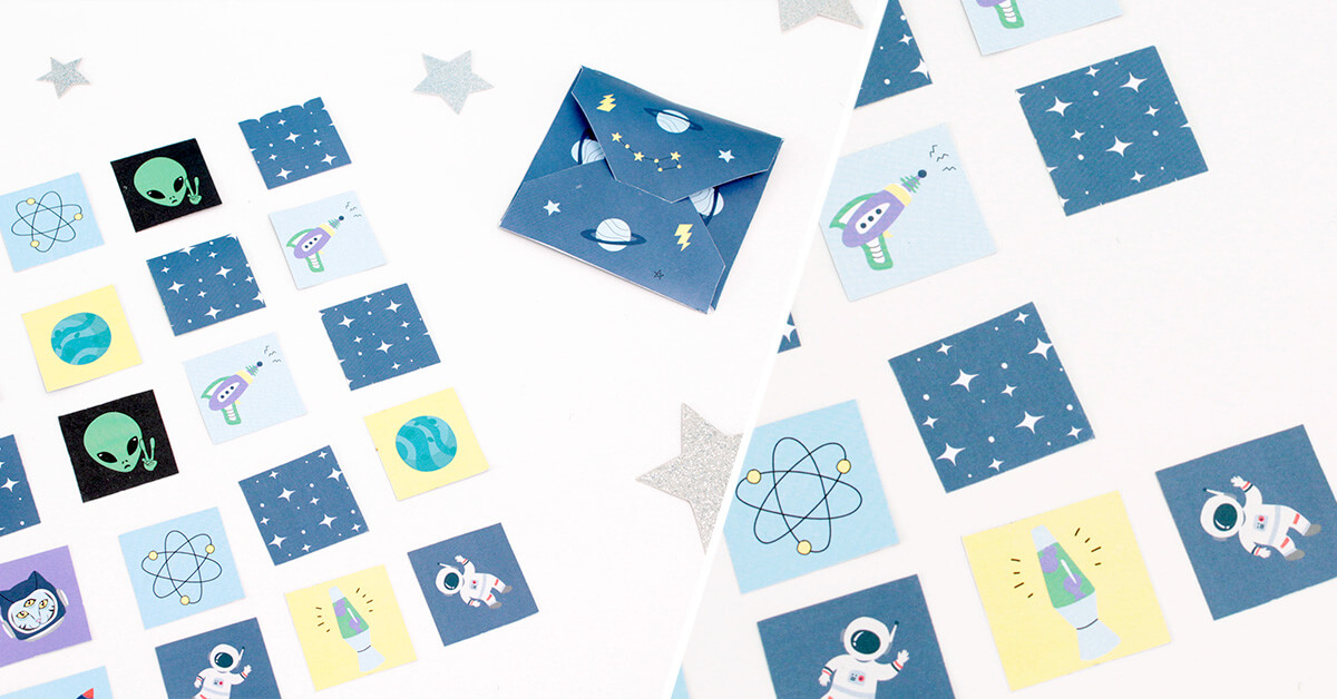 DIY for Kids: Space Memory Cards Game