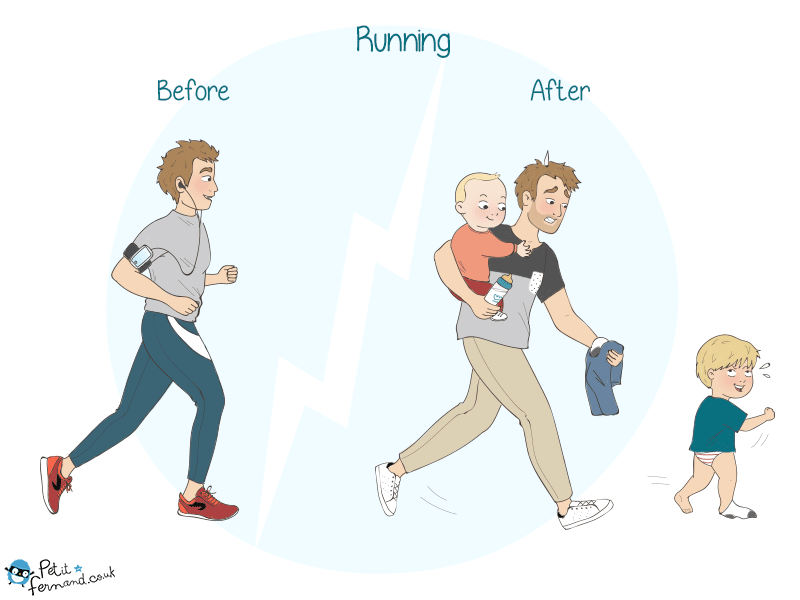 Parenting humour kids jogging