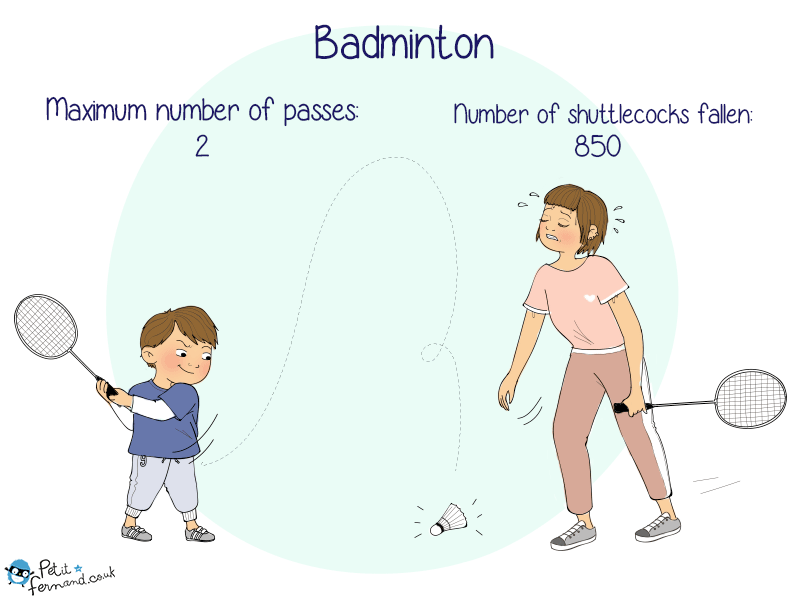 Playing Badminton with your child