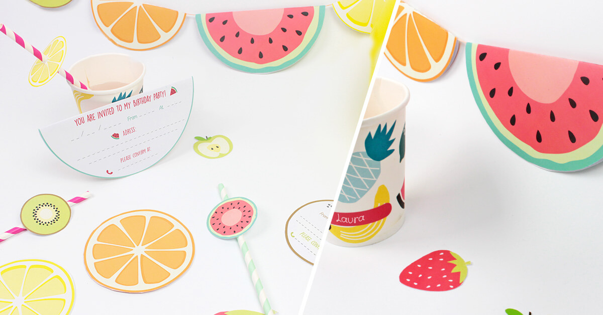 Make these fruit birthday invitations for a great summer party