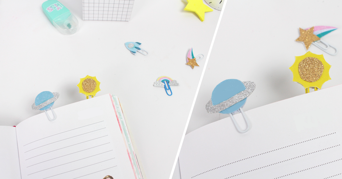 Create your own bookmark with just a paper clip!