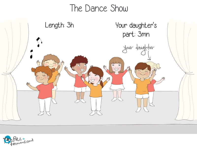 3h of show to see your daughter dance for 3 minutes!
