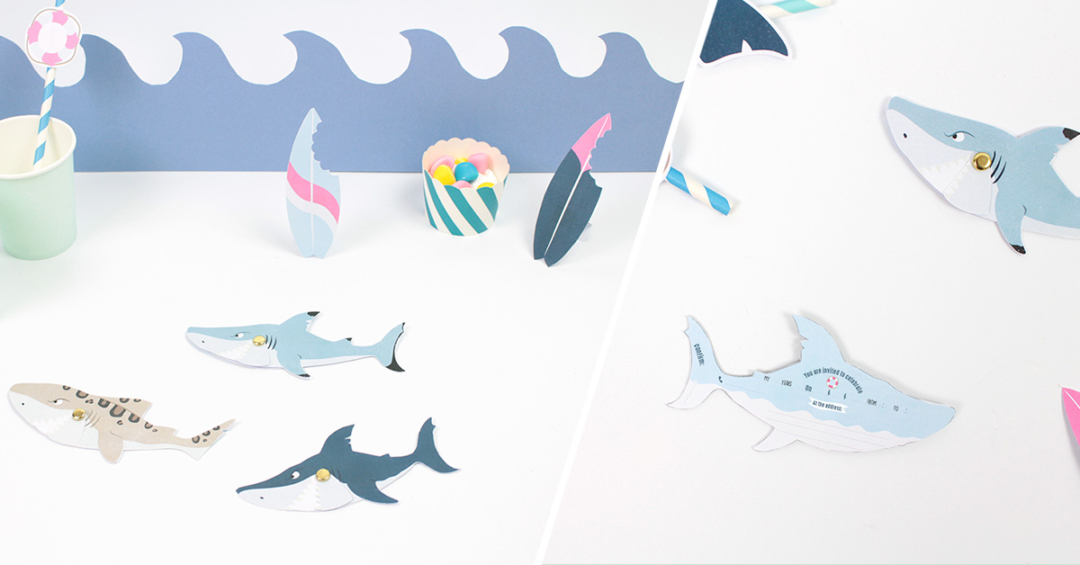 The perfect shark birthday party set