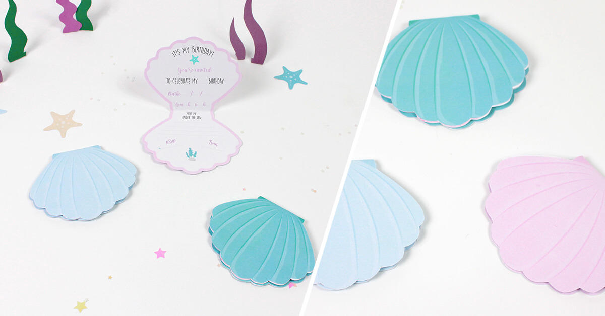 Mermaid Birthday Party Invitations Diy Petit Fernand Uk