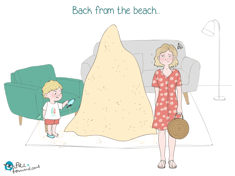 After a beach day, a big part of the beach comes back with you, too!