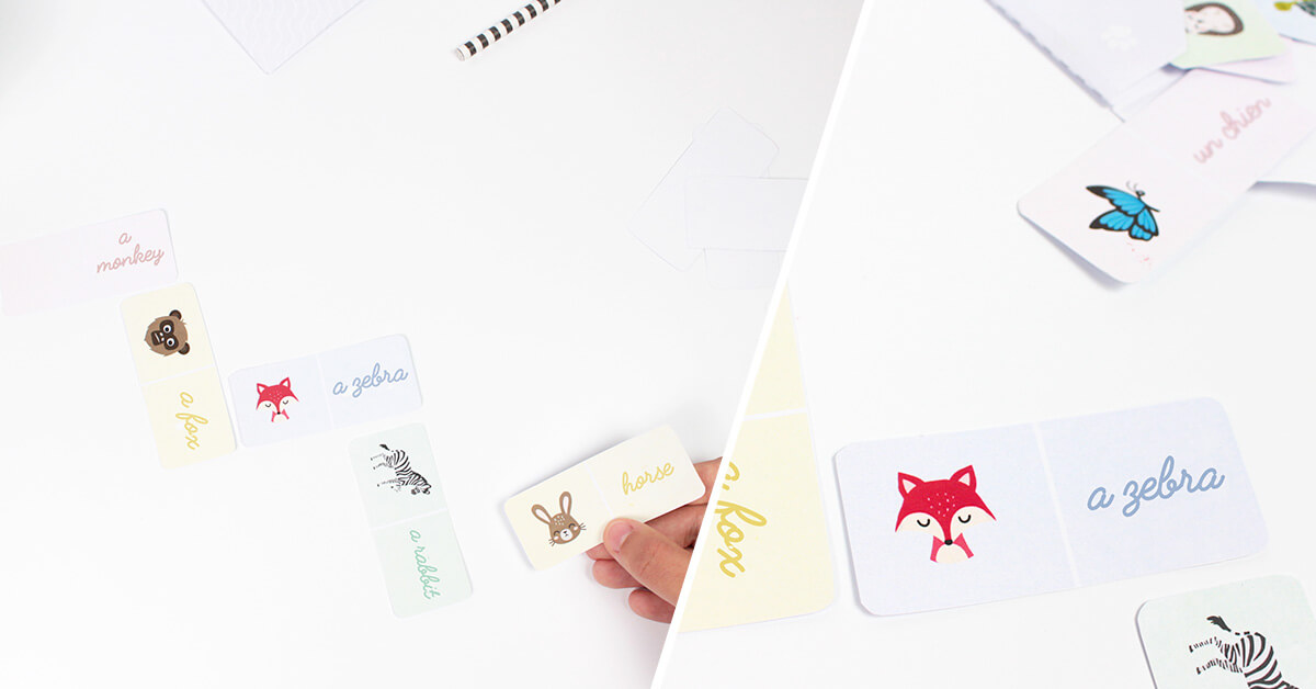 Make this animal dominoes DIY to have fun with your family!