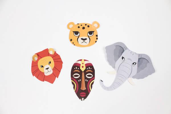 Savanna animals birthday invitations