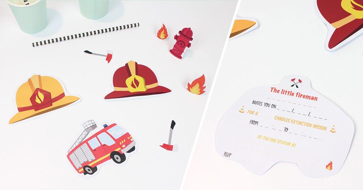 Follow a few steps to make those firemen invitations
