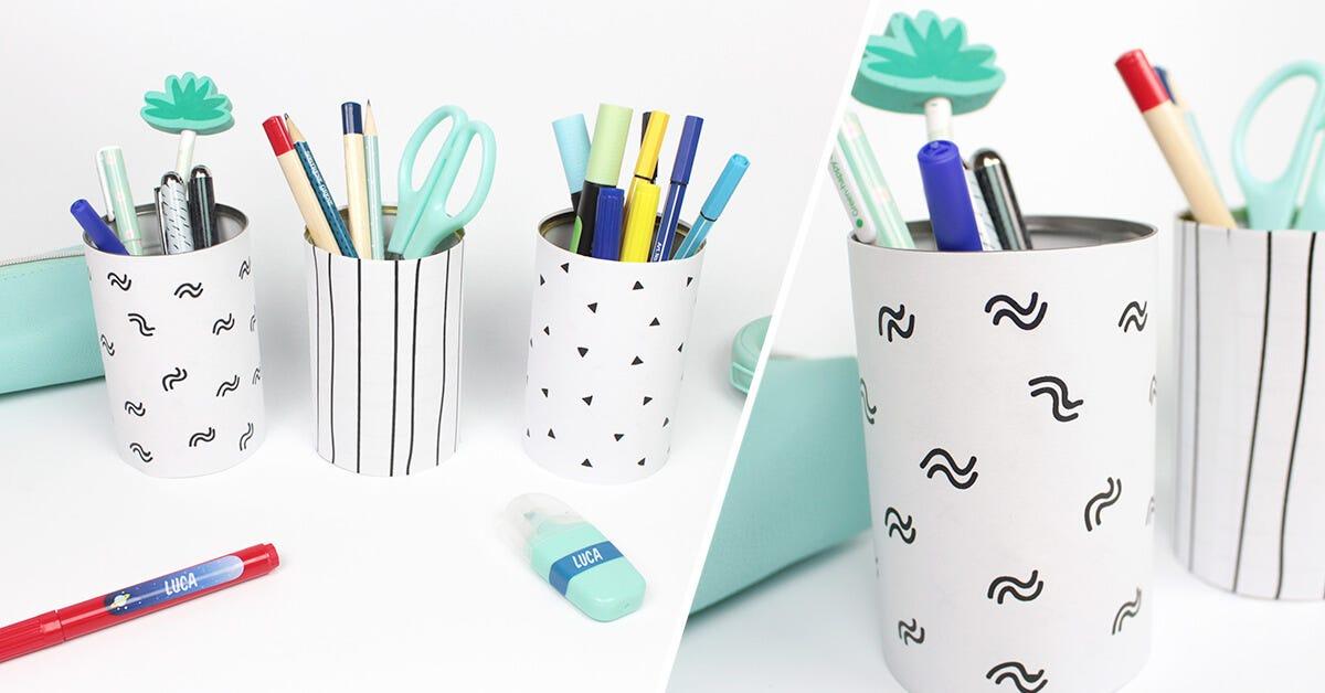 Follow our pencil pot DIY !