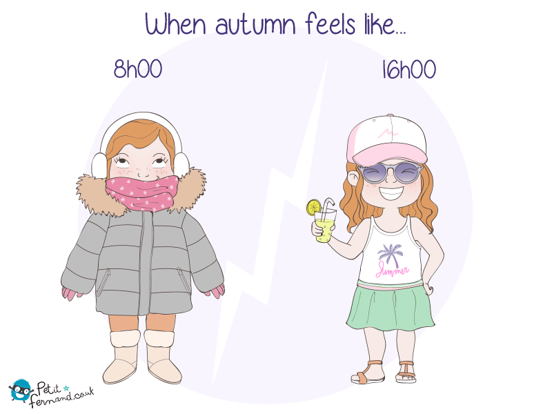 Outfit of the morning VS outfit of the afternoon