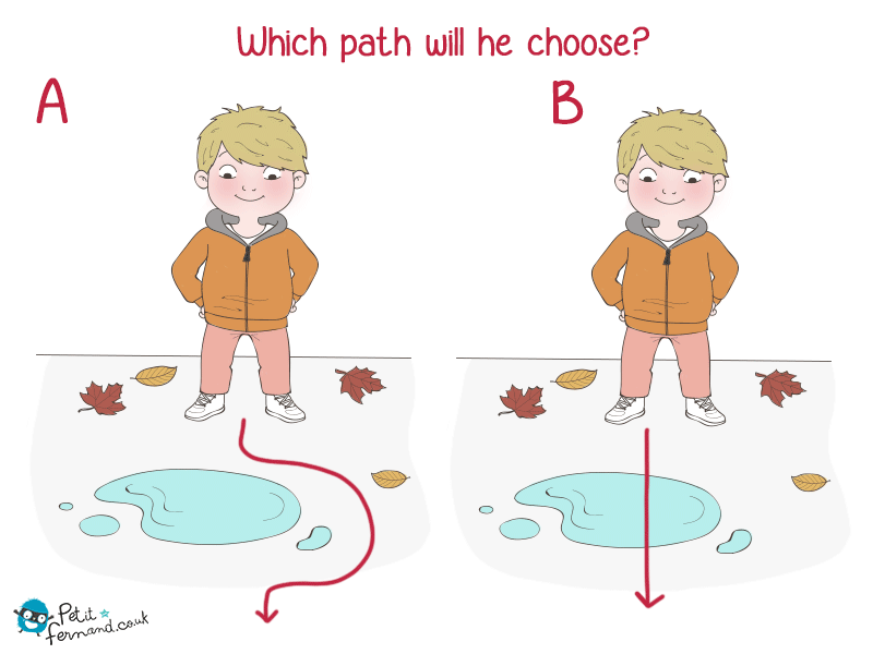 Which path will he choose?