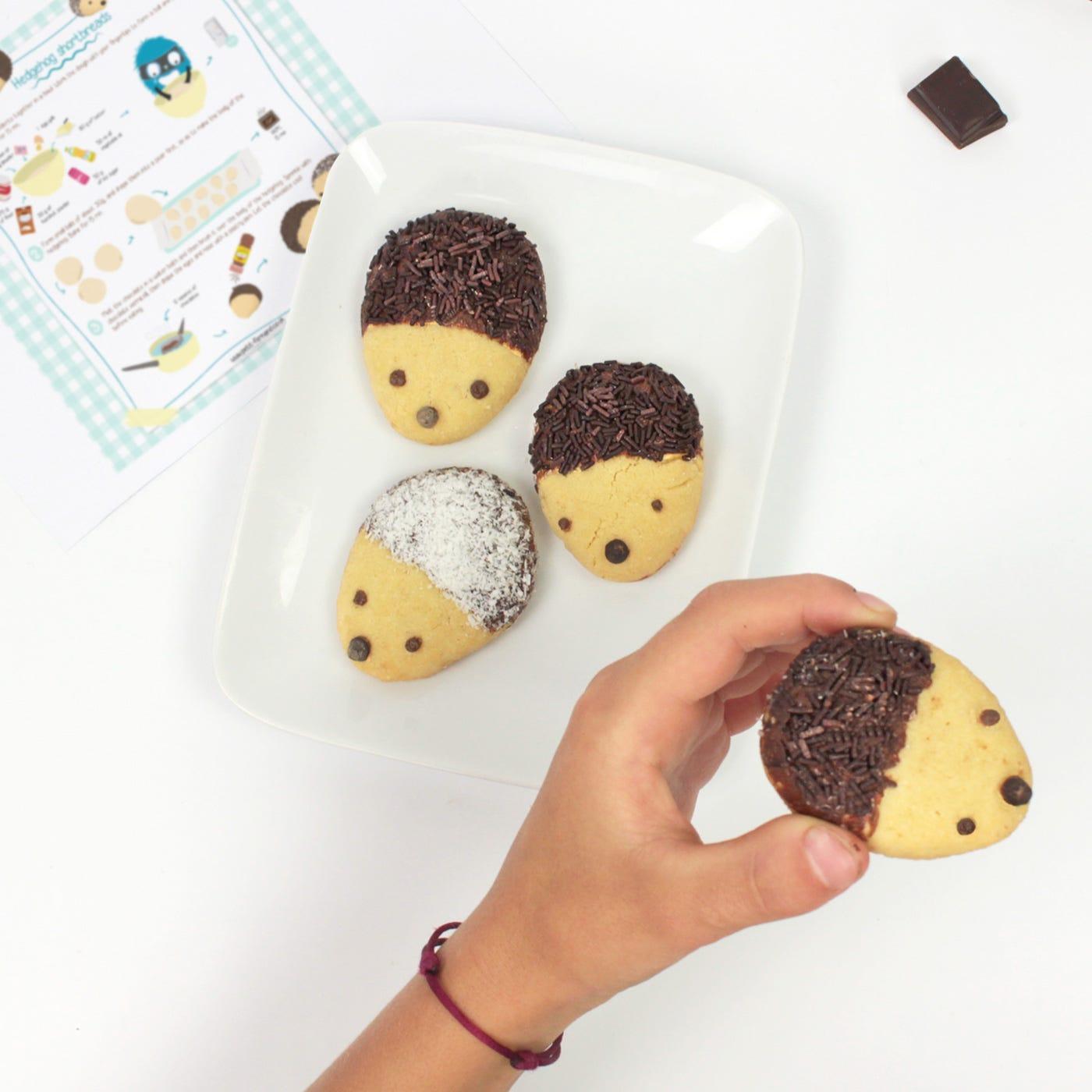 Little hedgehog cookies… almost too cute to eat !