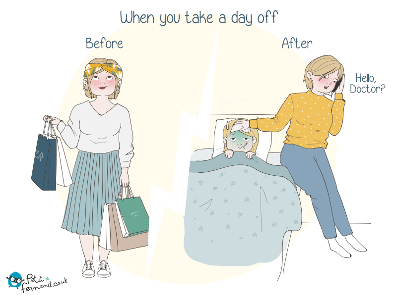 A day off… really?