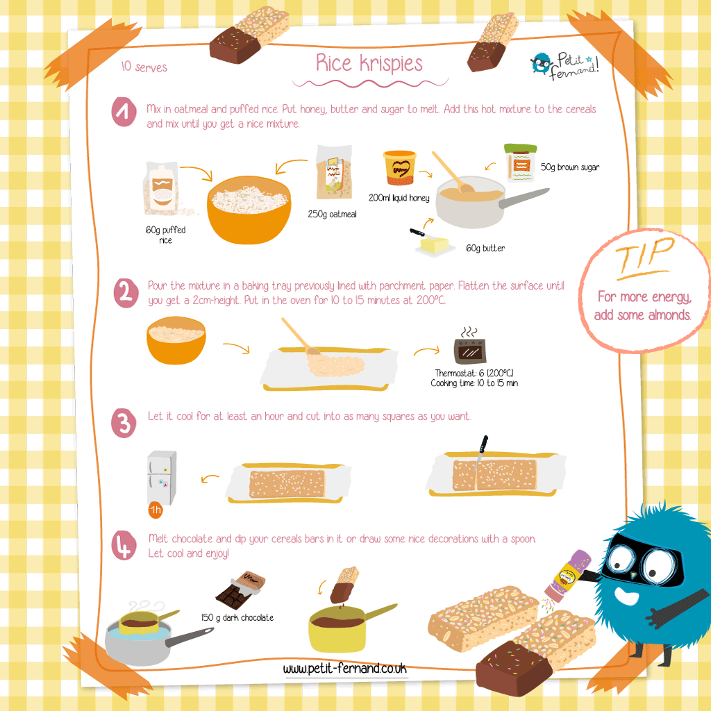 A nice and easy-to-make rice krispies recipe to give children a boost!
