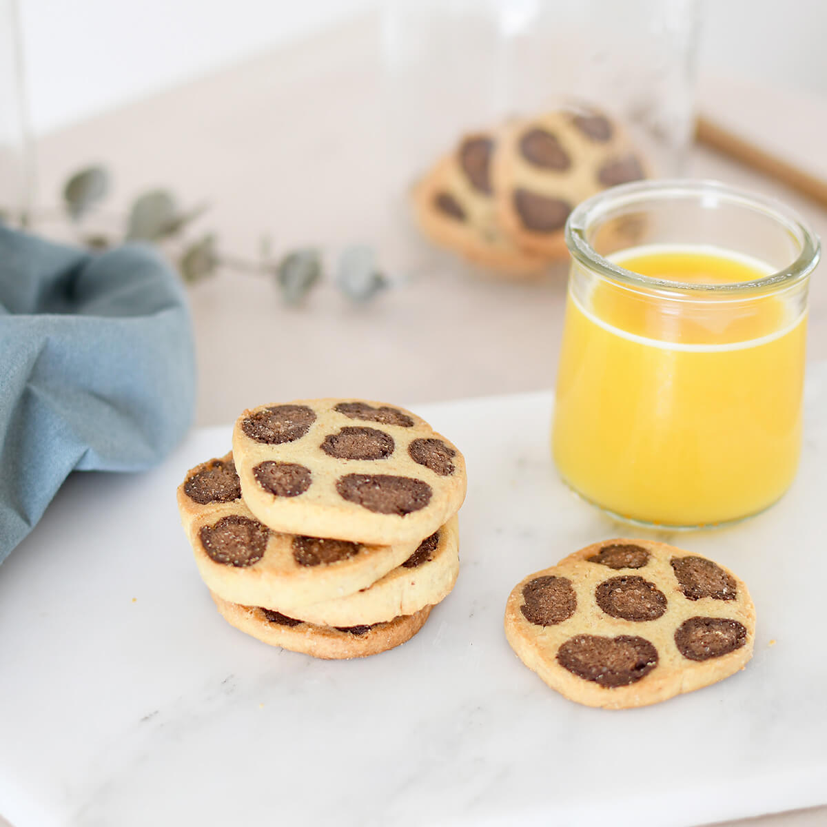 Here's our leopard shortbread recipe, follow the guide for a fun pastry workshop with your kids.