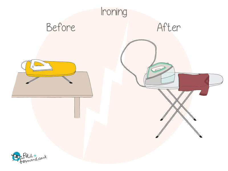 Say goodbye to your quick ironing on a corner of your student dinner table… Hello huge steam ironer to iron all the family's stuff!