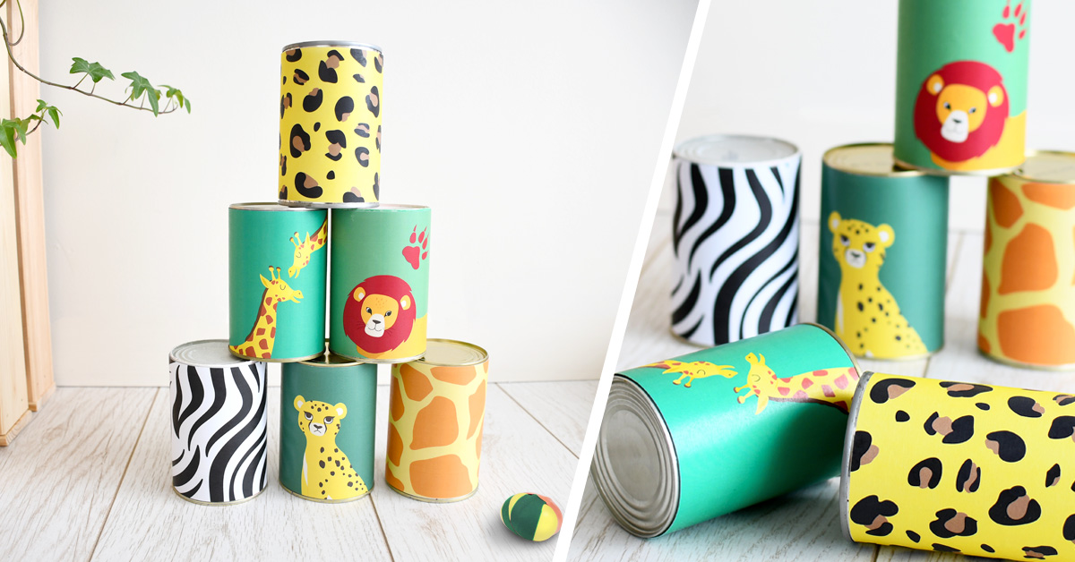 Holidays are coming: let's prepare this great Lion King printed coconut shy to keep the kids busy during summer!