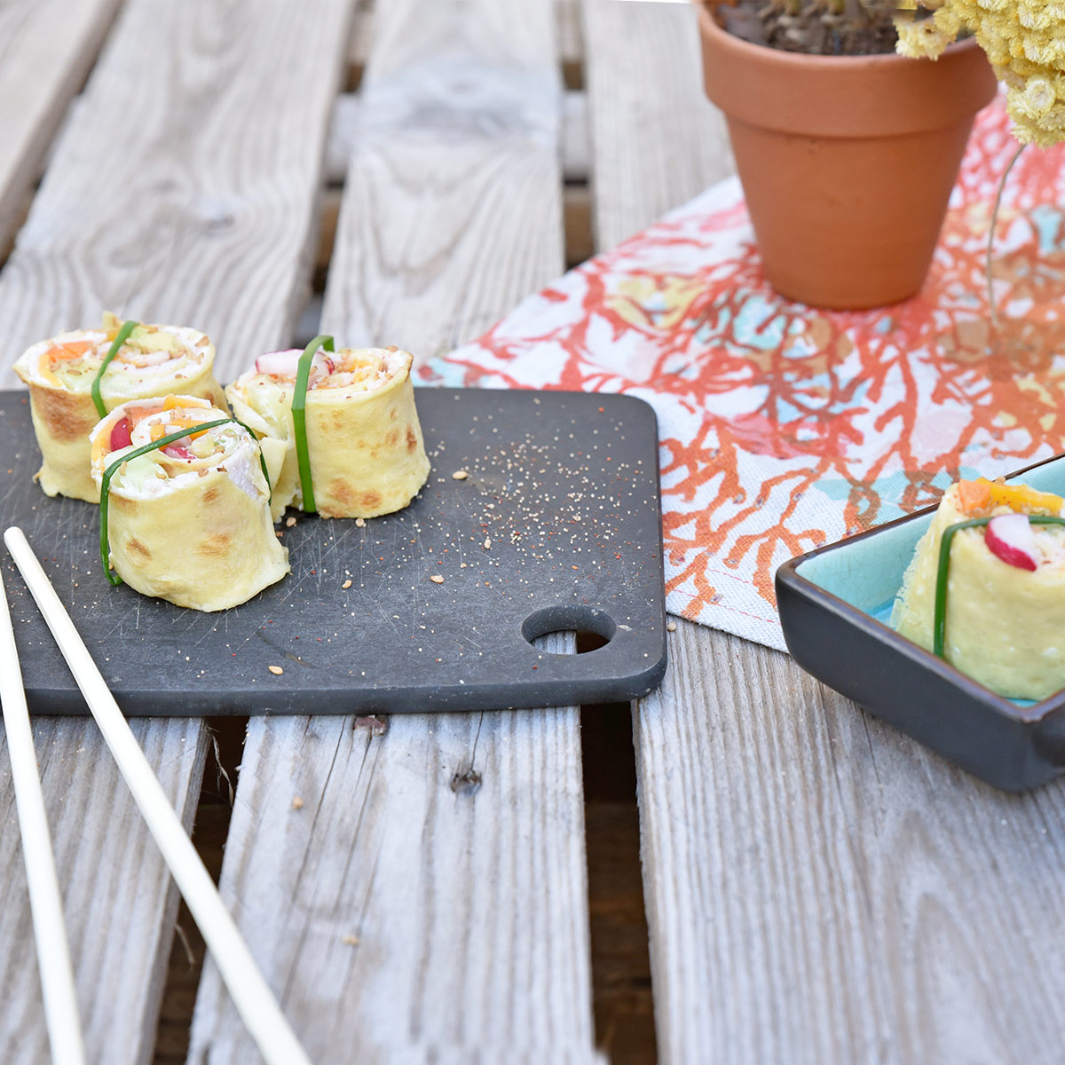 An original way to eat crepes: discover our Maki salted crepe recipe!
