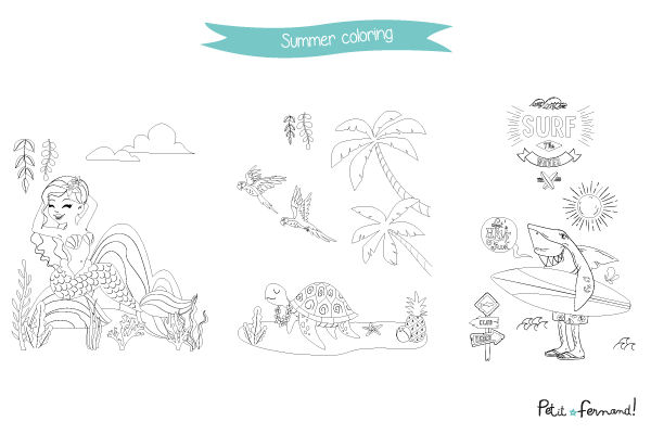 We bring the tropics and good mood back home thanks to the summer themed coloring to download for free on our website!
