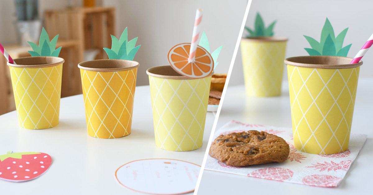 Surprise your guests with these nice and pretty personalised and colourful cups for your kids' birthday party this summer!