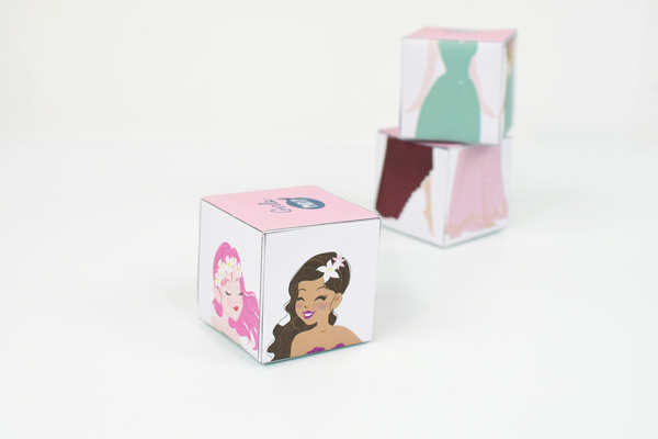 These interchangeable princess and pirates cube puzzles are endless fun for the kids!