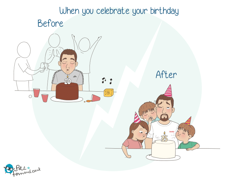 When we start parenting, a lot of things change, including our birthday parties!