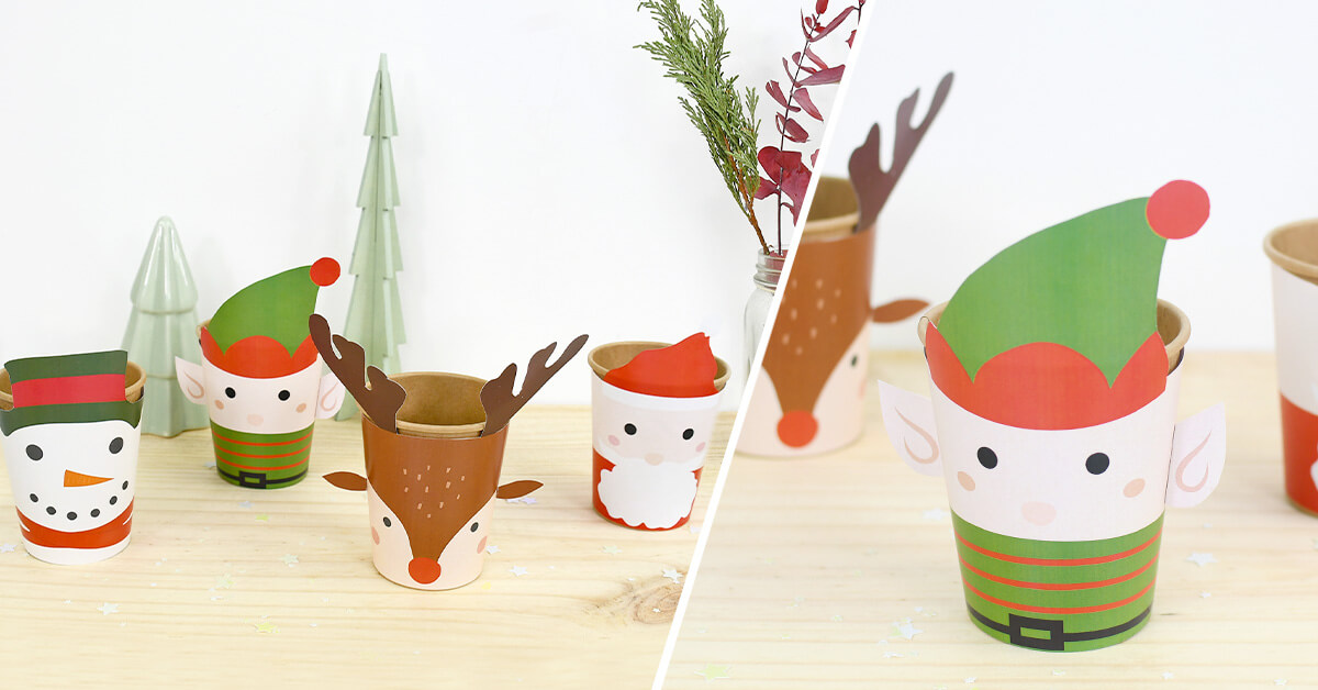 A perfect workshop to gather parents and children around the making of these cups decorated with the Christmas star! Find all our workshops on the blog.