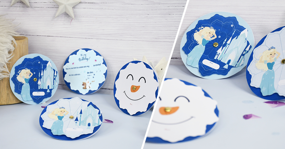 Easily create your Frozen®-inspired invitations!